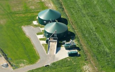 Philippe Henry visite l'unité de biogaz du Haut Geer